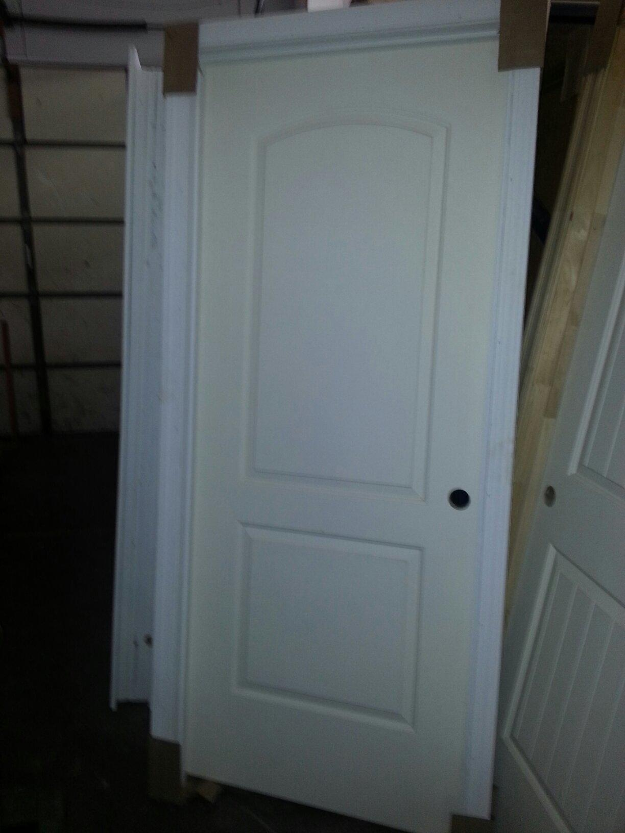 30 X 80 6 Panel Textured Hollow Core Primed White Pre Bored