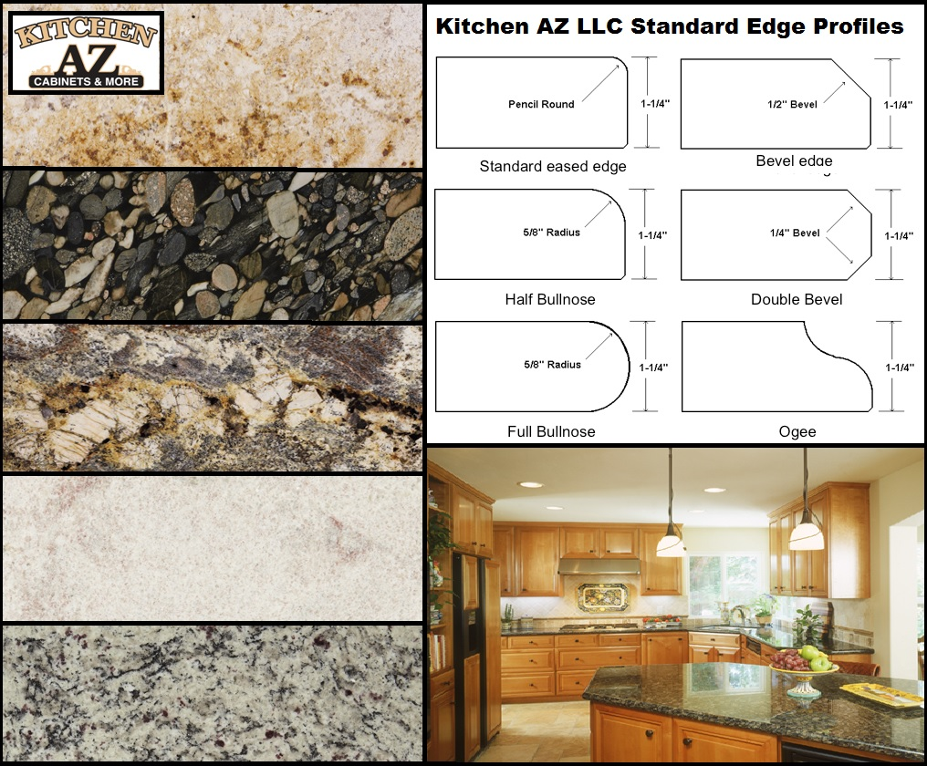 Granite Countertop Edge Profiles in Phoenix